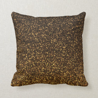 Black gold sparkly glitter pillow