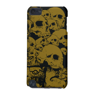 Black gold stacked skulls awesome ipod touch case