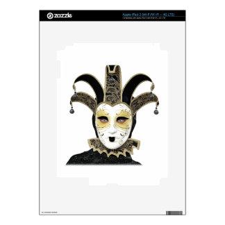 Black Gold Straight Venetian Carnivale Mask iPad 3 Skins