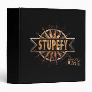 Black & Gold Stupefy Spell Graphic Binder