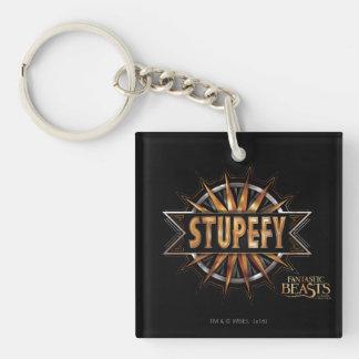 Black & Gold Stupefy Spell Graphic Keychain