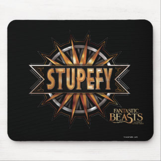 Black & Gold Stupefy Spell Graphic Mouse Pad