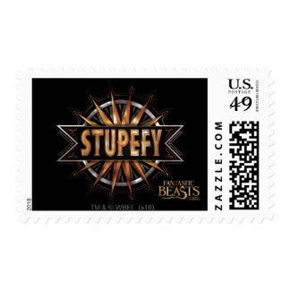 Black & Gold Stupefy Spell Graphic Postage