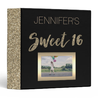 Black Gold Sweet Sixteen Binder