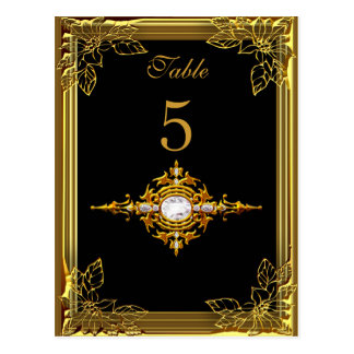 Black Gold Table Number Seating Place Card