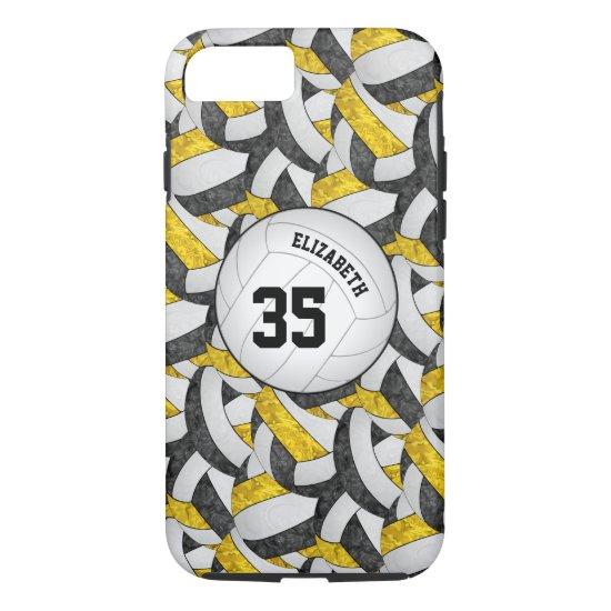 black gold team spirit gifts girls' volleyball iPhone 8/7 case