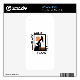 Black Gold Texas Tea iPhone 4S Decals
