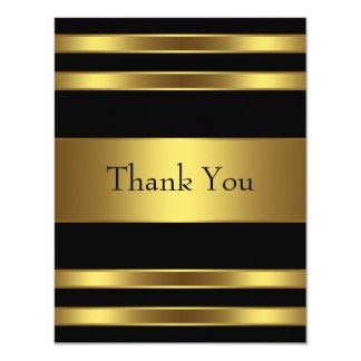 Black Gold Thank You Card