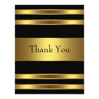 Black Gold Thank You Card Invites