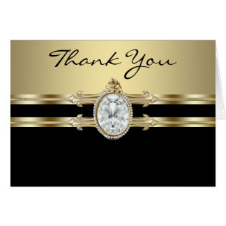 Black Gold Thank You Cards Note Card