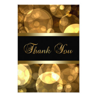 Black Gold Thank You Cards Personalized Invitation