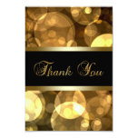 """Black Gold Thank You Cards 3.5"""" X 5"""" Invitation Card"""