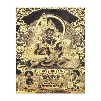 Black & Gold Tibetan Buddhist Art Canvas Prints