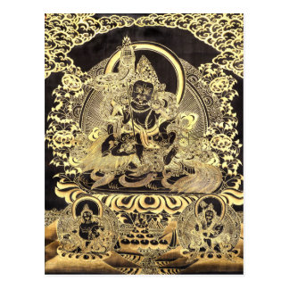 Black & Gold Tibetan Buddhist Art Postcard