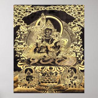 Black & Gold Tibetan Buddhist Art Posters