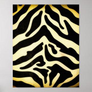 Black Gold Tiger Pattern Print Design