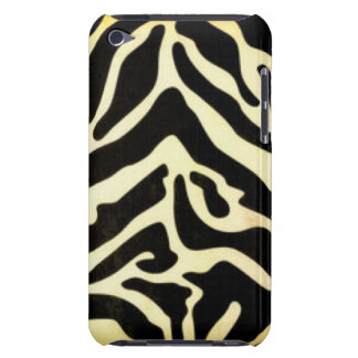 Black Gold Tiger Pattern Print Design Barely There iPod Case