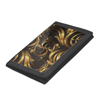 Black & Gold TRi-Fold Wallet