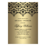 Black & Gold Vintage Damask Bridal Shower Invite