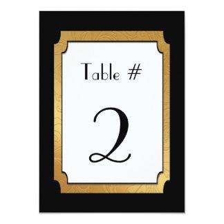 Black & Gold Wedding Wedding Table Number