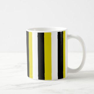 Black Gold White Stripes Mug