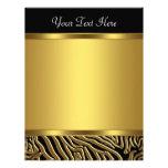 Black Gold Zebra Elegant Black Zebra Letterhead