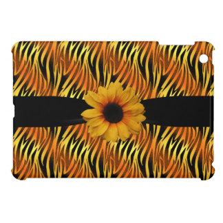 Black Gold Zebra Print Sunflower iPad Mini Case For The iPad Mini