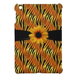 Black Gold Zebra Print Sunflower iPad Mini iPad Mini Cover