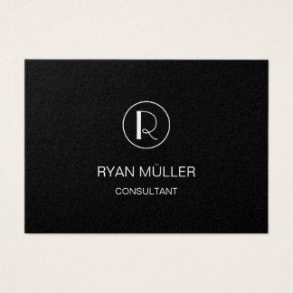 Black Golden Professional Plain and Monogram Business Card
