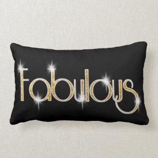 Black Golden Shine Fabulous Lumbar Pillow