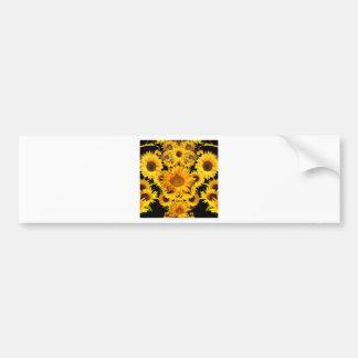 Black-golden Sunflowers Pattern gifts Bumper Sticker