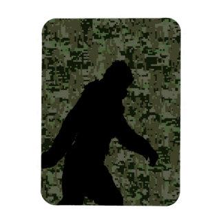 Black Gone Squatchin Woodland Digital Camouflage Magnet