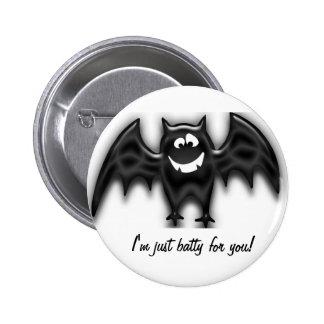 Black Goofy Bat, I'm just batty for you! button