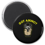 Black Got Ammo Pistol 2 Inch Round Magnet