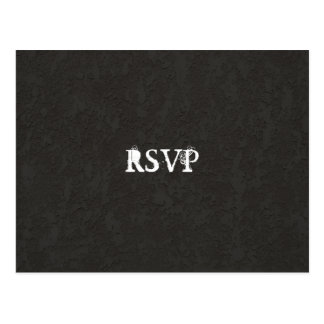 Black Goth Cracked RSVP Postcard