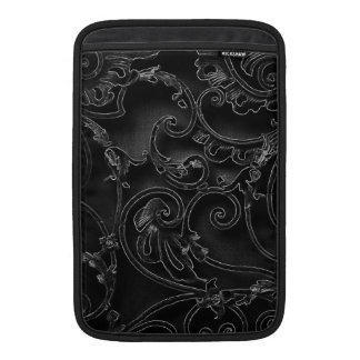 Black gothic baroque swirl pattern MacBook air sleeve
