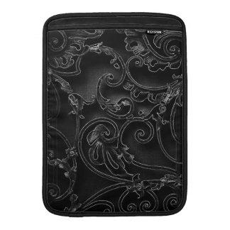 Black gothic baroque swirl pattern sleeve for MacBook air