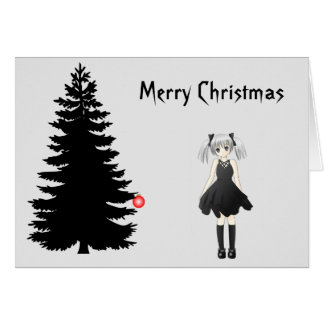 Black Gothic Christmas Card