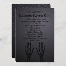 Black Gothic Halloween Party Invitation