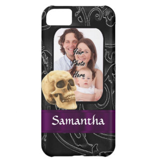 Black Gothic skull iPhone 5C Cover
