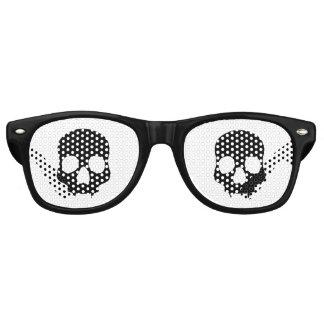 Black gothic style fanged skulls wayfarer sunglasses