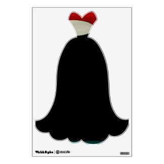 Black Gown with Cream /Red Bodice >Wall decal