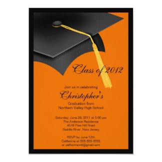 Black Grad Cap Graduation Party Invitation
