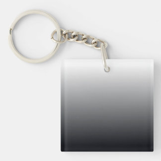 Black Gradient Double-Sided Square Acrylic Keychain