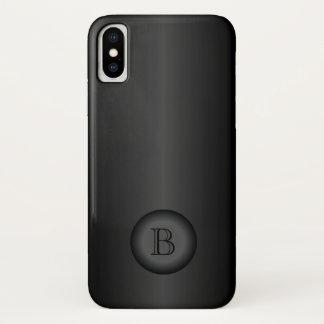 Black Gradient Monogram iPhone X Case