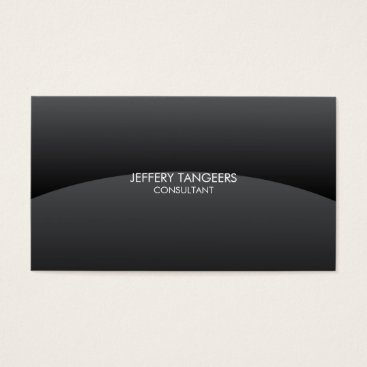 Professional Business Black Gradient Wave Business Card
