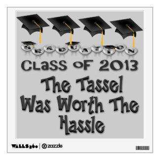 Black Graduation Caps Wall Decal