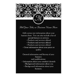 Black Grand Insignia Monogram flyer, program Flyer
