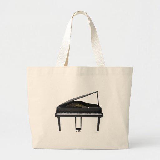 Black Grand Piano: 3D Model: Canvas Bags