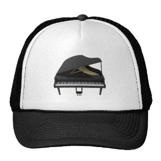 Black Grand Piano: 3D Model: Trucker Hat